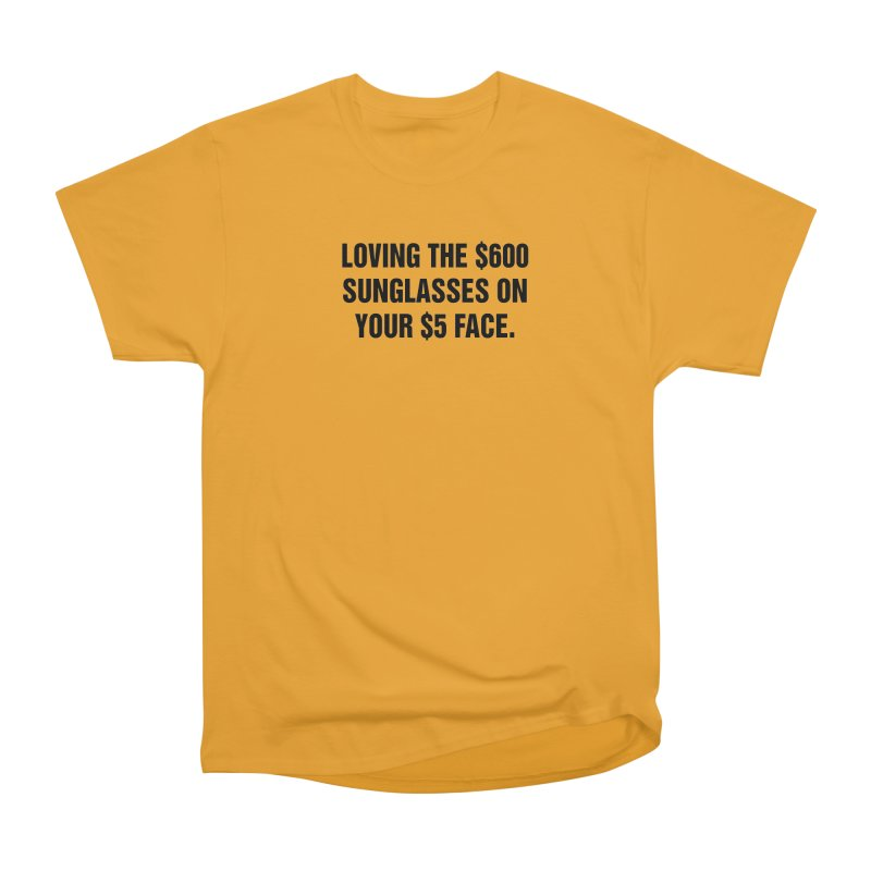 "SIDE EYE/""Five Dollar Face"" (Black) Men's Heavyweight T-Shirt by Josh Sabarra's Shop"