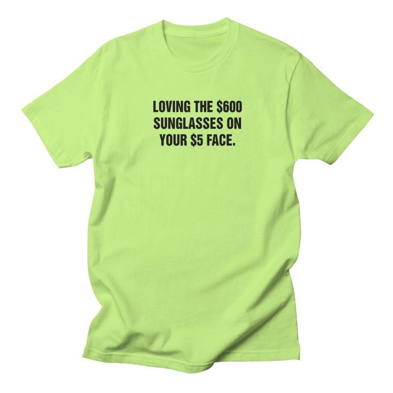 "SIDE EYE/""Five Dollar Face"" (Black) Women's Regular Unisex T-Shirt by Josh Sabarra's Shop"