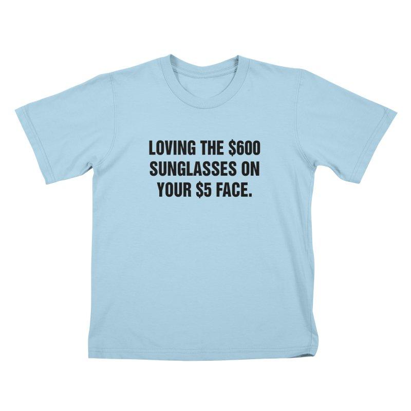 """SIDE EYE/""""Five Dollar Face"""" (Black) Kids T-Shirt by Josh Sabarra's Shop"""