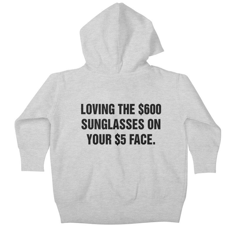 "SIDE EYE/""Five Dollar Face"" (Black) Kids Baby Zip-Up Hoody by Josh Sabarra's Shop"
