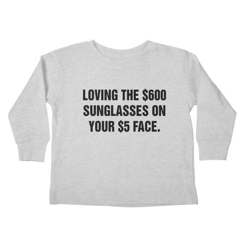 "SIDE EYE/""Five Dollar Face"" (Black) Kids Toddler Longsleeve T-Shirt by Josh Sabarra's Shop"