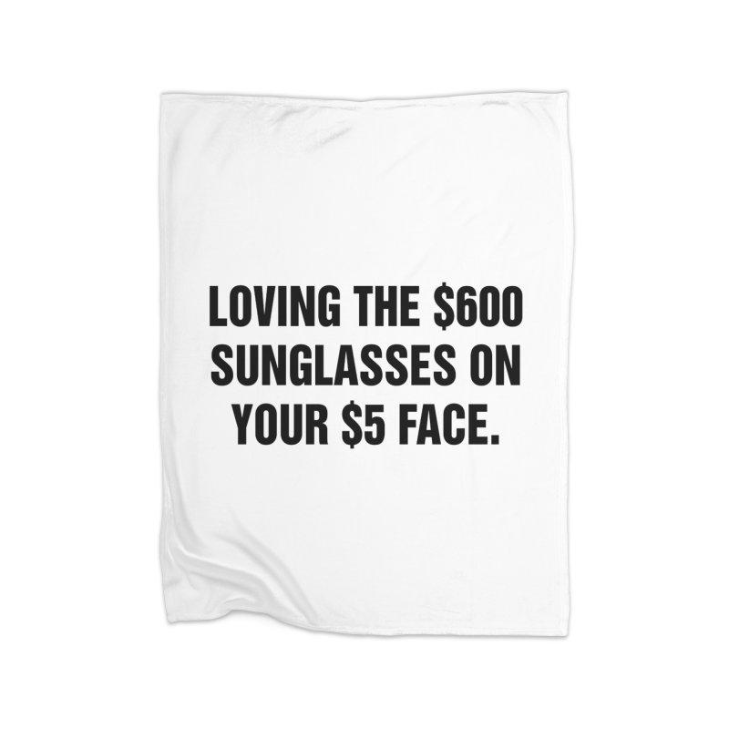 """SIDE EYE/""""Five Dollar Face"""" (Black) Home Fleece Blanket Blanket by Josh Sabarra's Shop"""