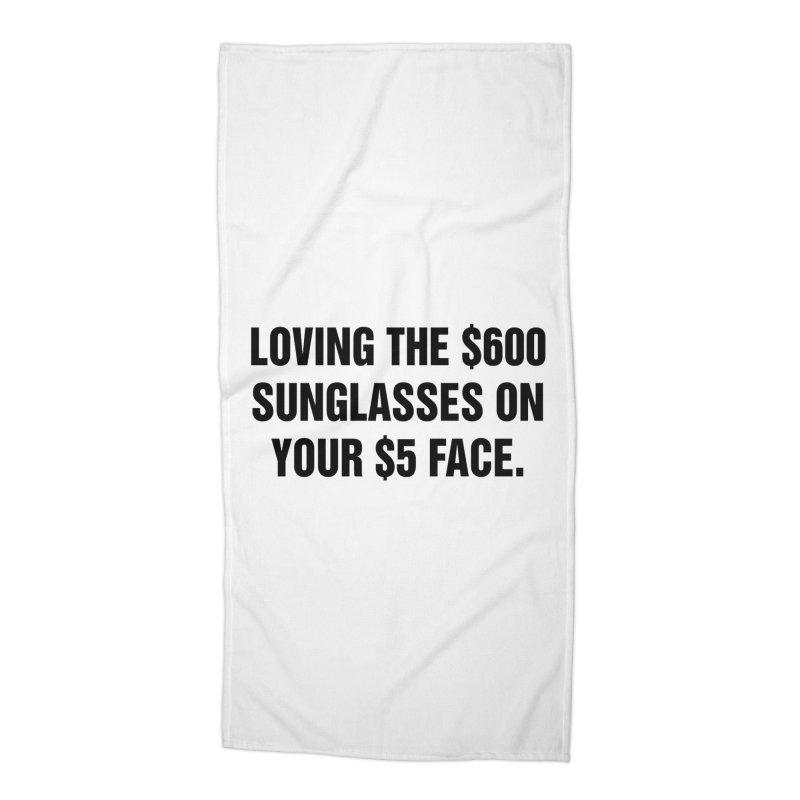 "SIDE EYE/""Five Dollar Face"" (Black) Accessories Beach Towel by Josh Sabarra's Shop"