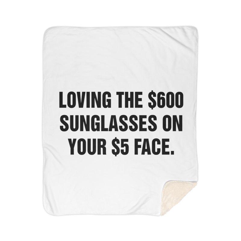 "SIDE EYE/""Five Dollar Face"" (Black) Home Blanket by Josh Sabarra's Shop"