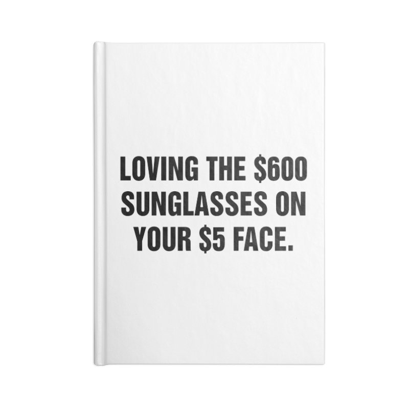 "SIDE EYE/""Five Dollar Face"" (Black) Accessories Blank Journal Notebook by Josh Sabarra's Shop"