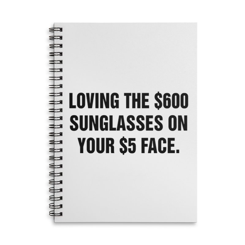 "SIDE EYE/""Five Dollar Face"" (Black) Accessories Lined Spiral Notebook by Josh Sabarra's Shop"