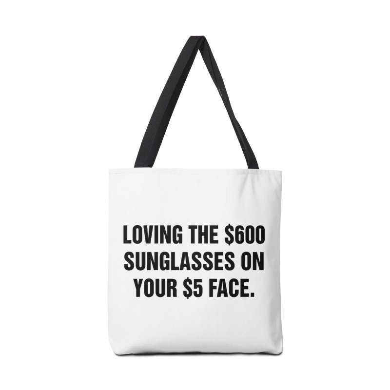 "SIDE EYE/""Five Dollar Face"" (Black) Accessories Tote Bag Bag by Josh Sabarra's Shop"
