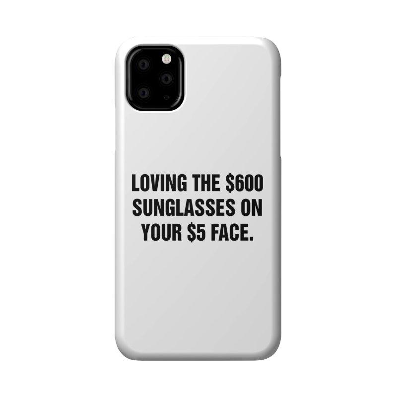"SIDE EYE/""Five Dollar Face"" (Black) Accessories Phone Case by Josh Sabarra's Shop"