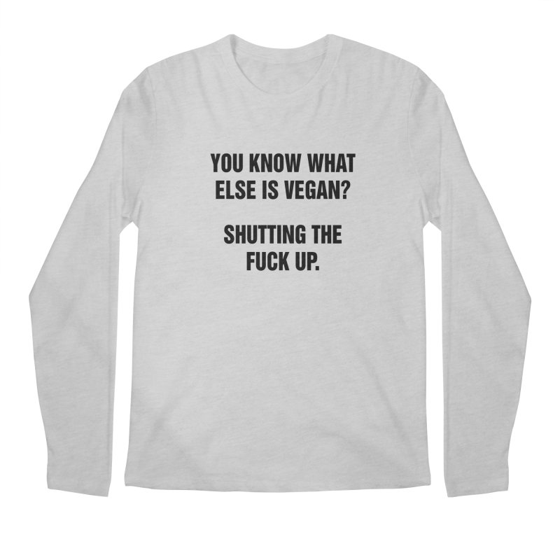 "SIDE EYE/""What Else Is Vegan"" (Black) Men's Regular Longsleeve T-Shirt by Josh Sabarra's Shop"