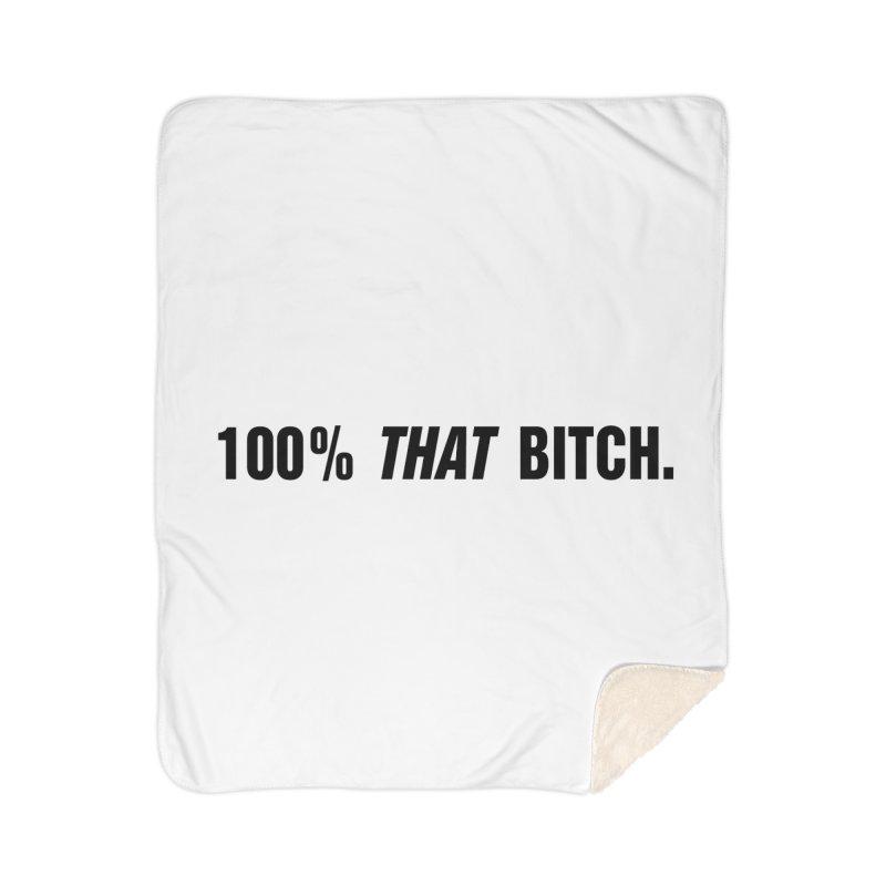 "SIDE EYE/""That Bitch"" (Black) Home Sherpa Blanket Blanket by Josh Sabarra's Shop"