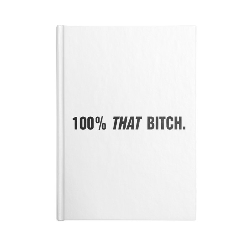 "SIDE EYE/""That Bitch"" (Black) Accessories Lined Journal Notebook by Josh Sabarra's Shop"