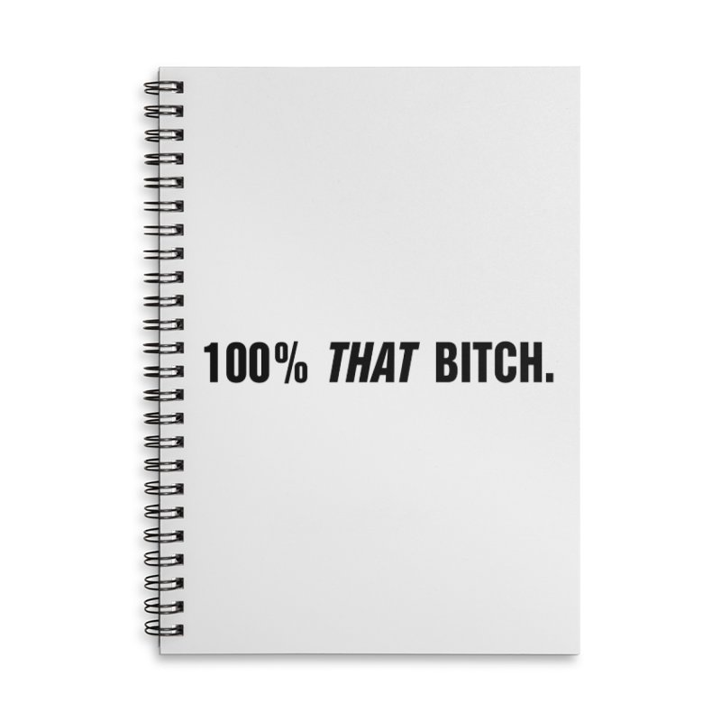 "SIDE EYE/""That Bitch"" (Black) Accessories Lined Spiral Notebook by Josh Sabarra's Shop"