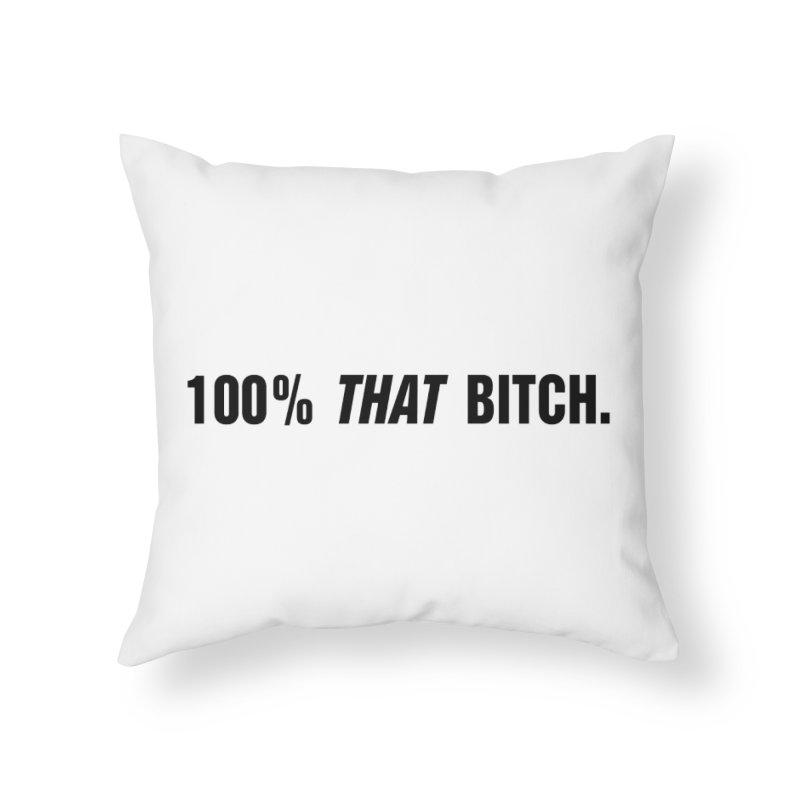 "SIDE EYE/""That Bitch"" (Black) Home Throw Pillow by Josh Sabarra's Shop"