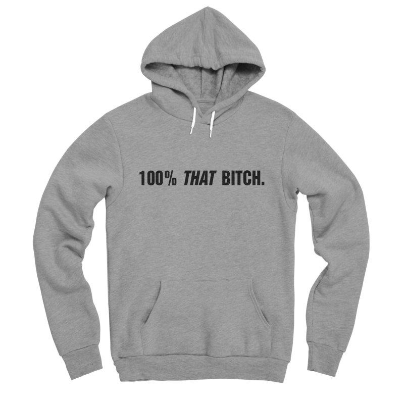 """SIDE EYE/""""That Bitch"""" (Black) Men's Sponge Fleece Pullover Hoody by Josh Sabarra's Shop"""
