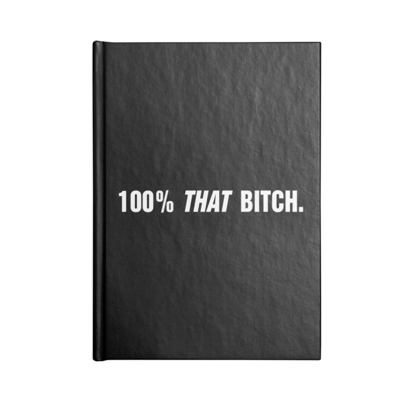 "SIDE EYE/""That Bitch"" (White) Accessories Lined Journal Notebook by Josh Sabarra's Shop"