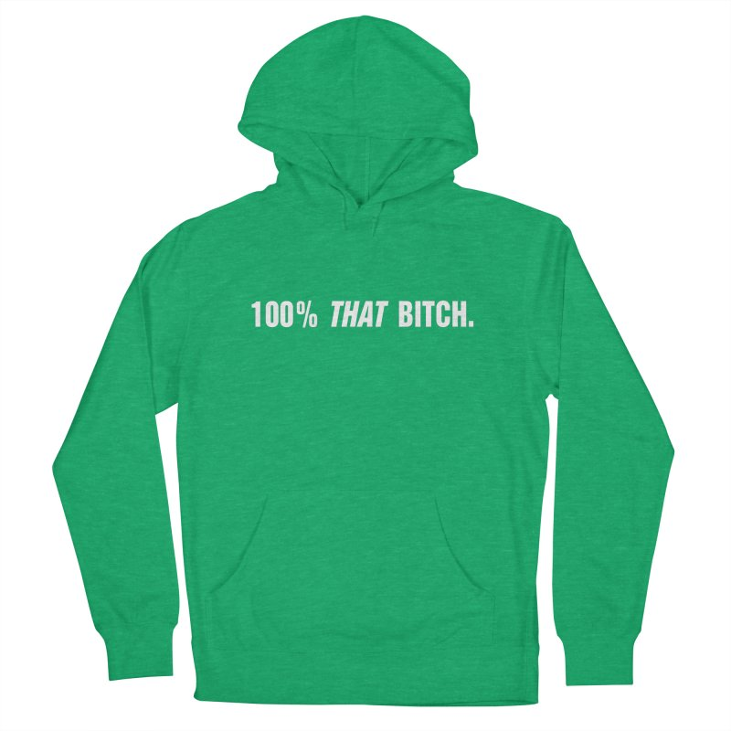 """SIDE EYE/""""That Bitch"""" (White) Men's French Terry Pullover Hoody by Josh Sabarra's Shop"""