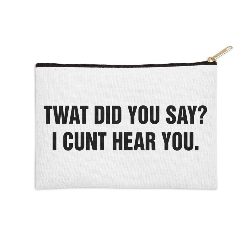 "SIDE EYE/""Twat?"" (Black) Accessories Zip Pouch by Josh Sabarra's Shop"