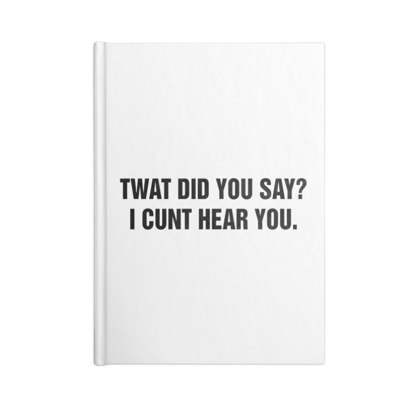 "SIDE EYE/""Twat?"" (Black) Accessories Notebook by Josh Sabarra's Shop"