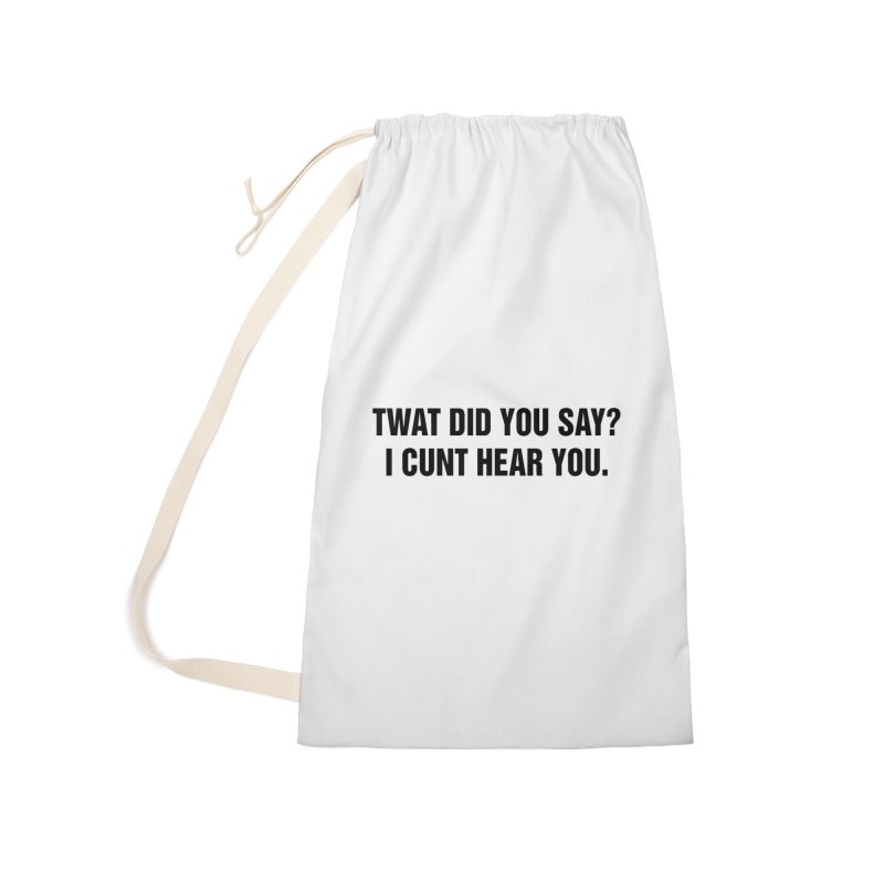 "SIDE EYE/""Twat?"" (Black) Accessories Laundry Bag Bag by Josh Sabarra's Shop"