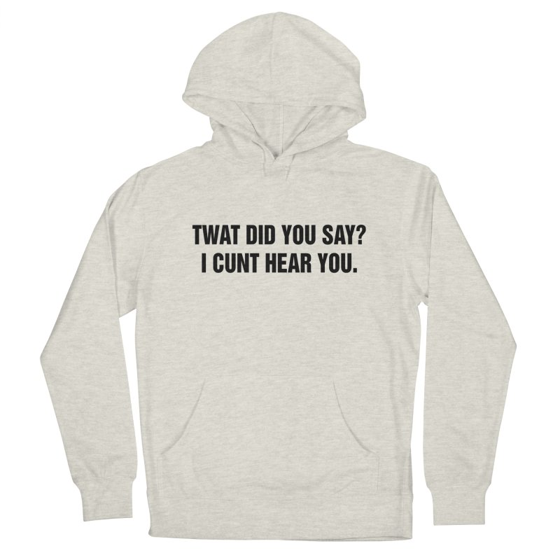 "SIDE EYE/""Twat?"" (Black) Men's French Terry Pullover Hoody by Josh Sabarra's Shop"