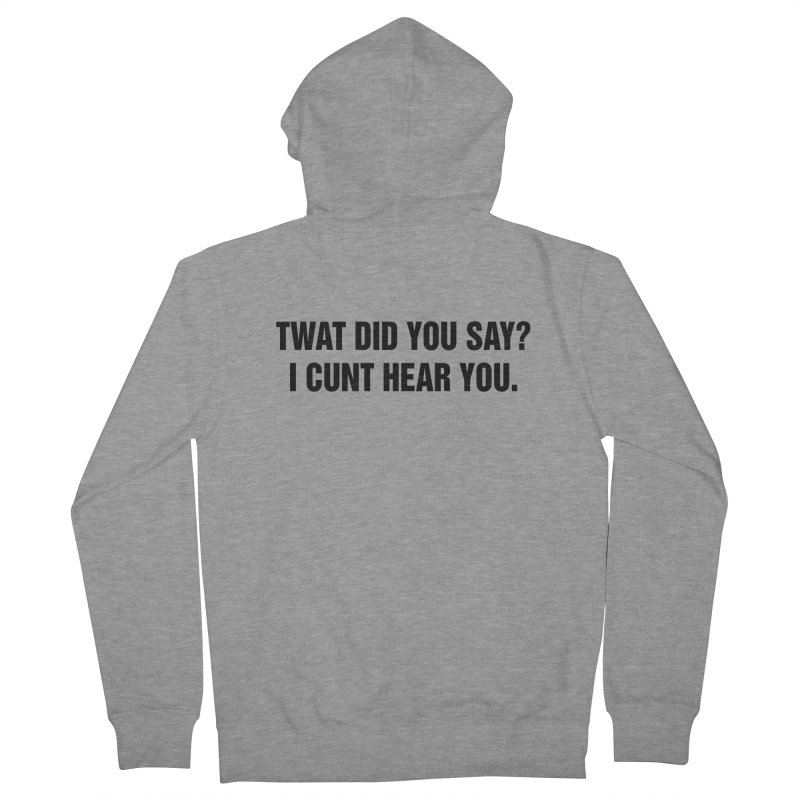 "SIDE EYE/""Twat?"" (Black) Men's French Terry Zip-Up Hoody by Josh Sabarra's Shop"
