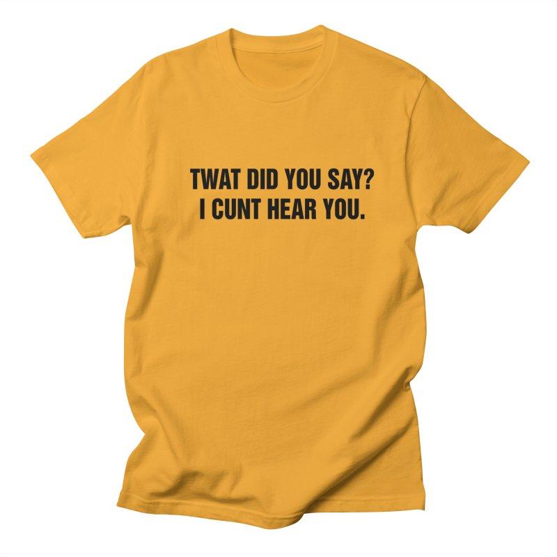 "SIDE EYE/""Twat?"" (Black) Women's Regular Unisex T-Shirt by Josh Sabarra's Shop"