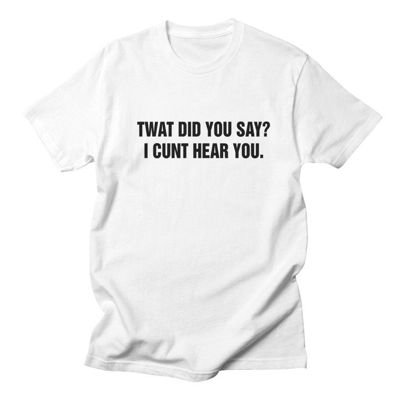 "SIDE EYE/""Twat?"" (Black) Men's Regular T-Shirt by Josh Sabarra's Shop"