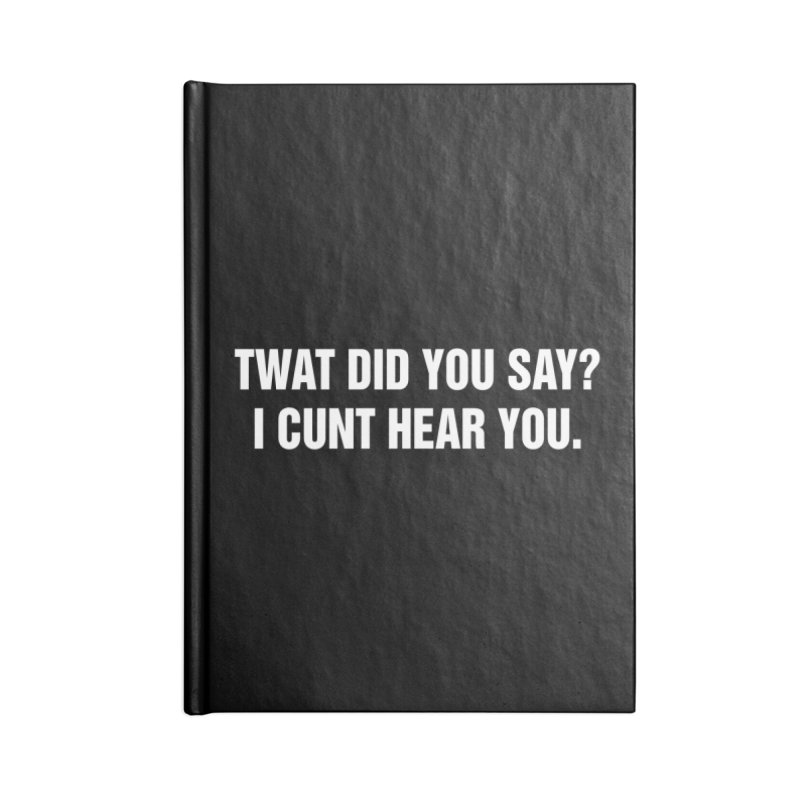 "SIDE EYE/""Twat?"" (White) Accessories Notebook by Josh Sabarra's Shop"