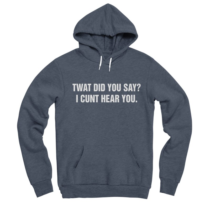 "SIDE EYE/""Twat?"" (White) Women's Sponge Fleece Pullover Hoody by Josh Sabarra's Shop"