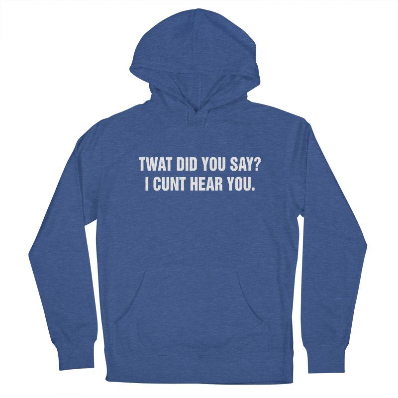 "SIDE EYE/""Twat?"" (White) Men's French Terry Pullover Hoody by Josh Sabarra's Shop"
