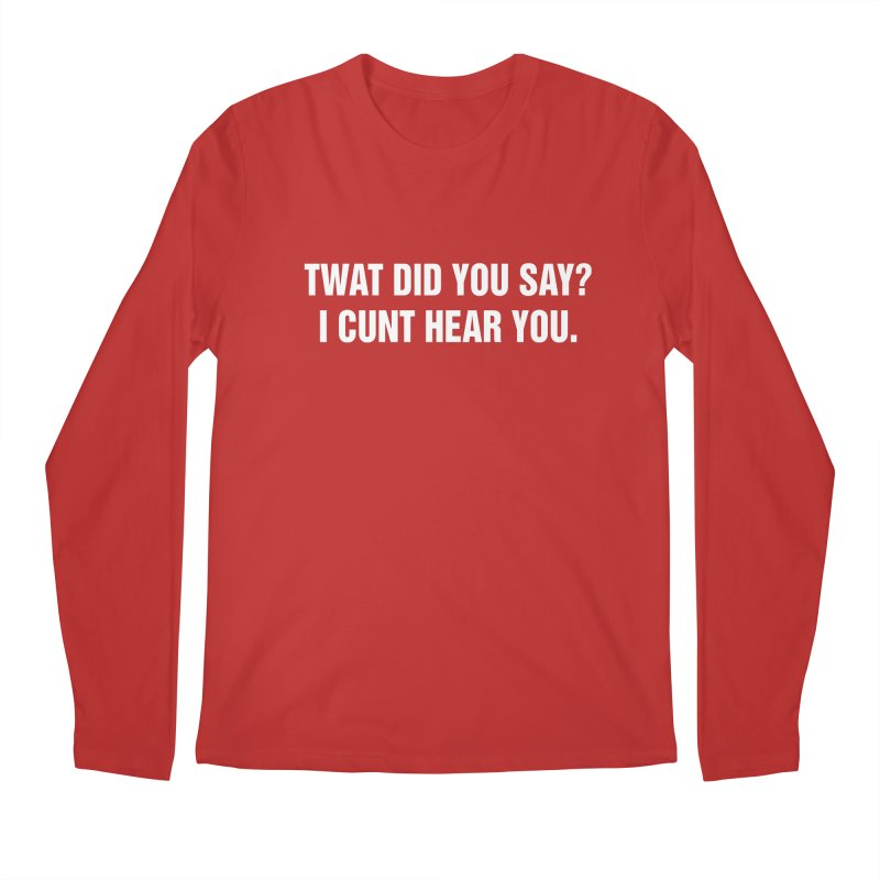 "SIDE EYE/""Twat?"" (White) Men's Regular Longsleeve T-Shirt by Josh Sabarra's Shop"