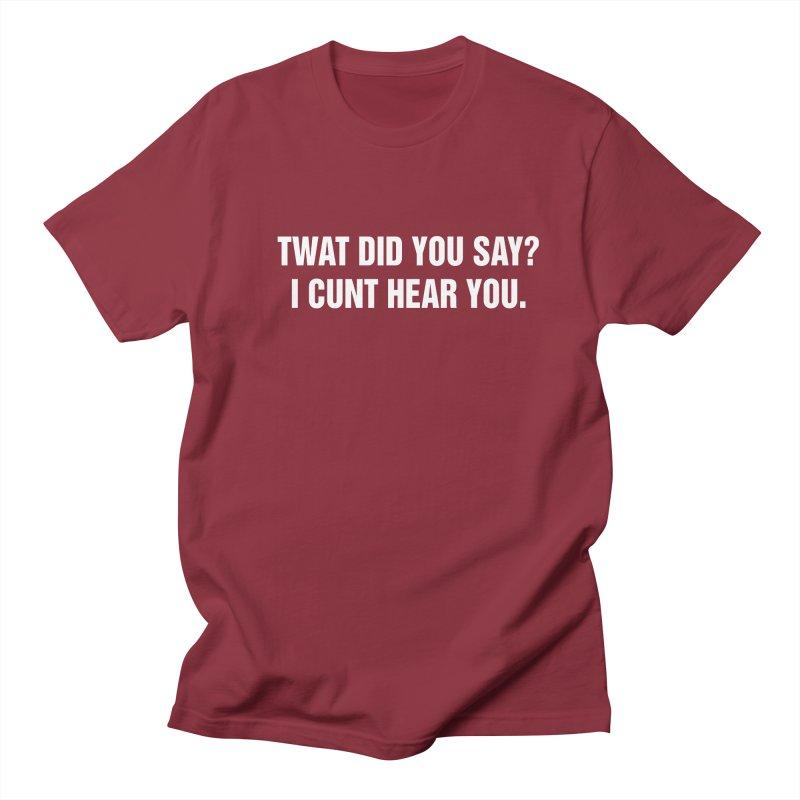 "SIDE EYE/""Twat?"" (White) Women's Regular Unisex T-Shirt by Josh Sabarra's Shop"