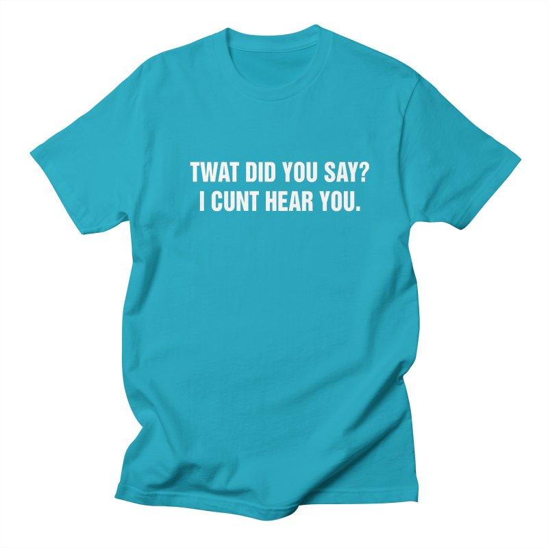 "SIDE EYE/""Twat?"" (White) Men's Regular T-Shirt by Josh Sabarra's Shop"