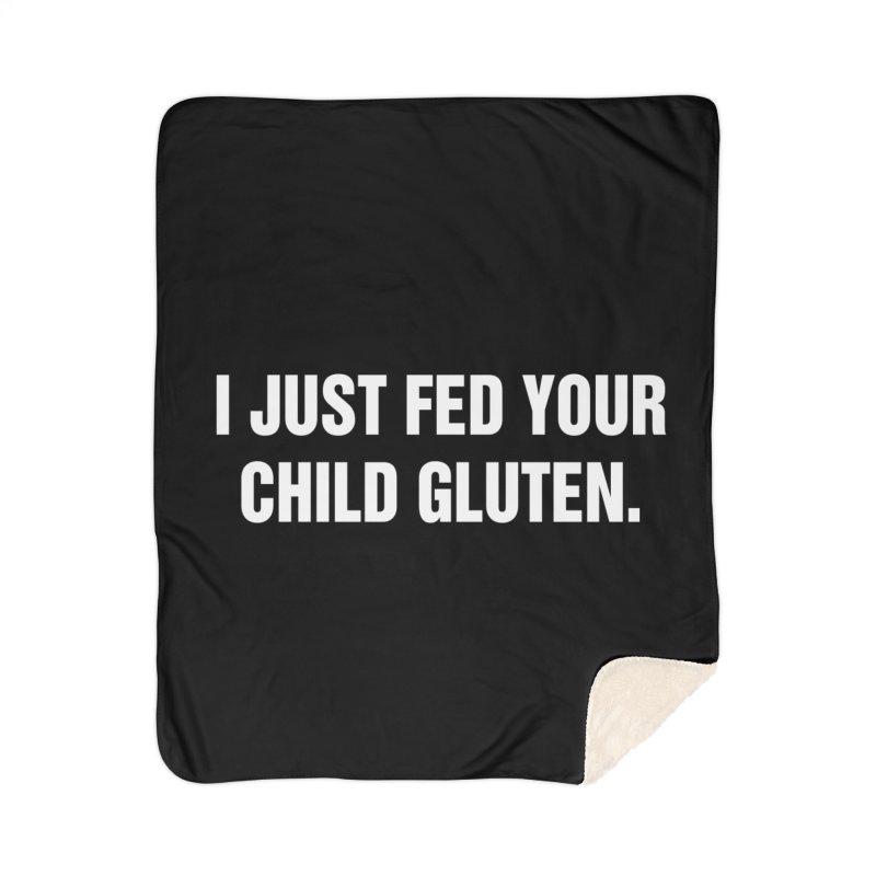 """SIDE EYE/""""Gluten"""" (White) Home Blanket by Josh Sabarra's Shop"""