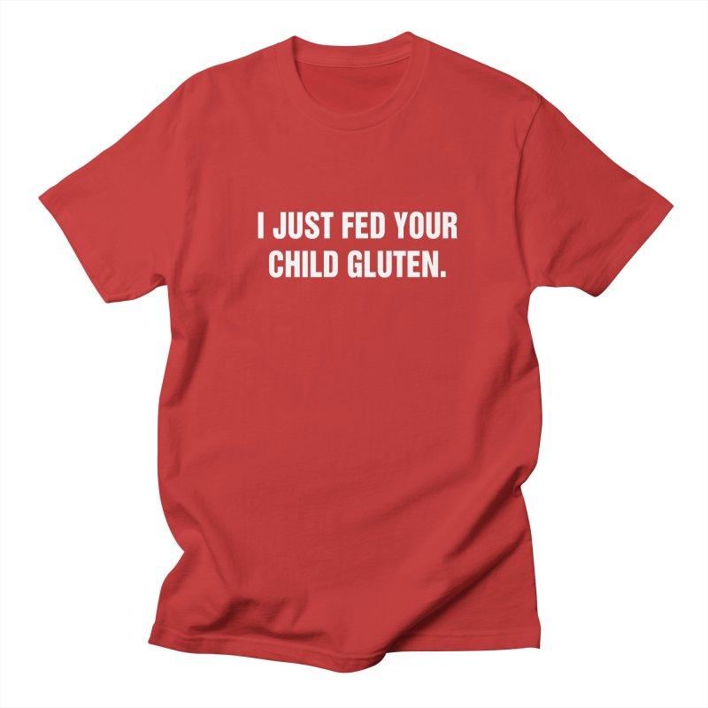 "SIDE EYE/""Gluten"" (White) Men's Regular T-Shirt by Josh Sabarra's Shop"