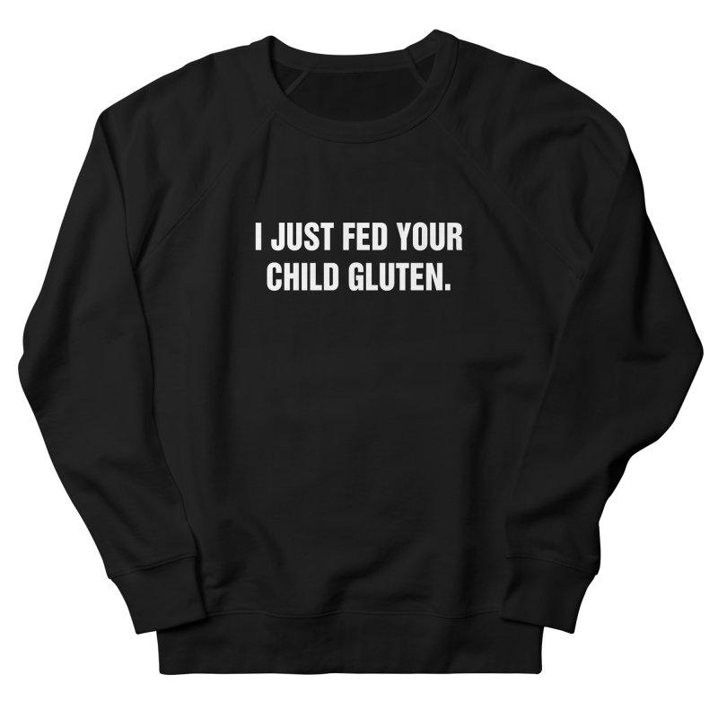 "SIDE EYE/""Gluten"" (White) Women's French Terry Sweatshirt by Josh Sabarra's Shop"