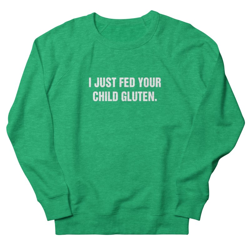 "SIDE EYE/""Gluten"" (White) Men's French Terry Sweatshirt by Josh Sabarra's Shop"