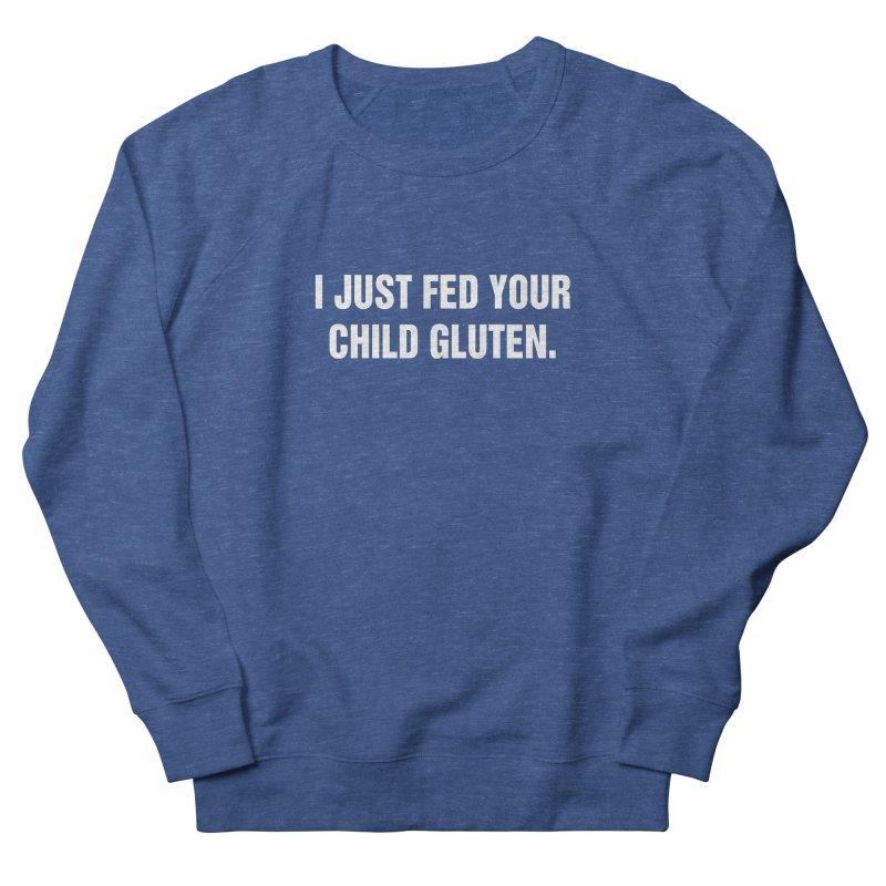 "SIDE EYE/""Gluten"" (White) Men's Sweatshirt by Josh Sabarra's Shop"