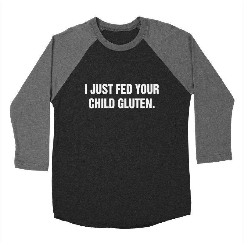 "SIDE EYE/""Gluten"" (White) Men's Baseball Triblend Longsleeve T-Shirt by Josh Sabarra's Shop"