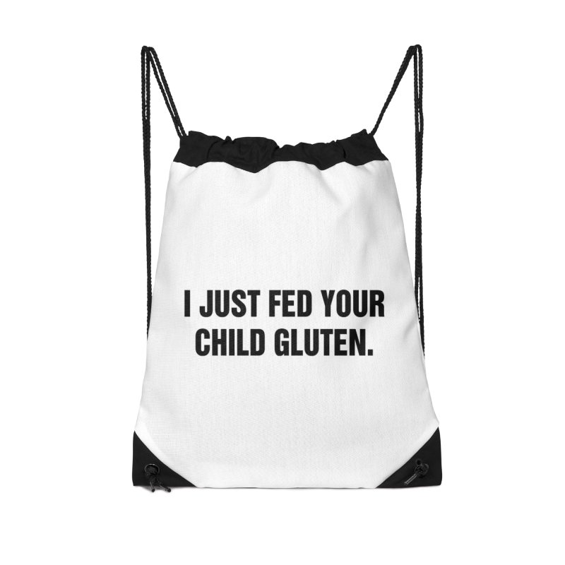 "SIDE EYE/""Gluten"" (Black) Accessories Drawstring Bag Bag by Josh Sabarra's Shop"