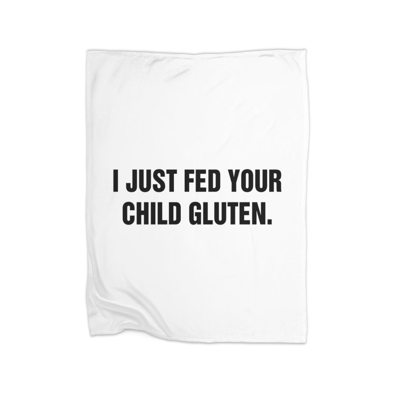 "SIDE EYE/""Gluten"" (Black) Home Fleece Blanket Blanket by Josh Sabarra's Shop"