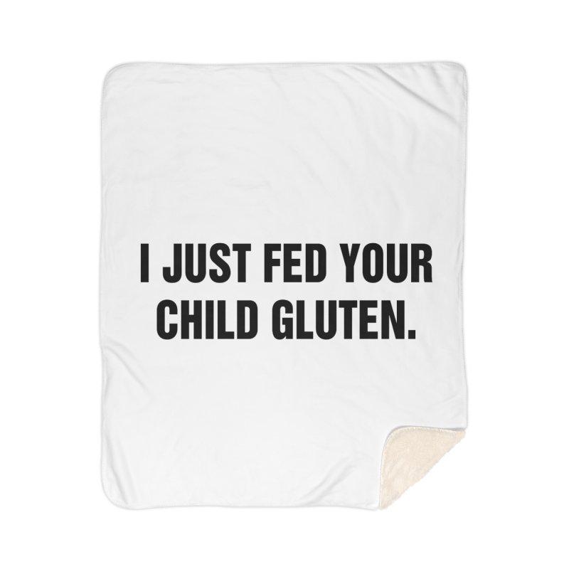 """SIDE EYE/""""Gluten"""" (Black) Home Sherpa Blanket Blanket by Josh Sabarra's Shop"""
