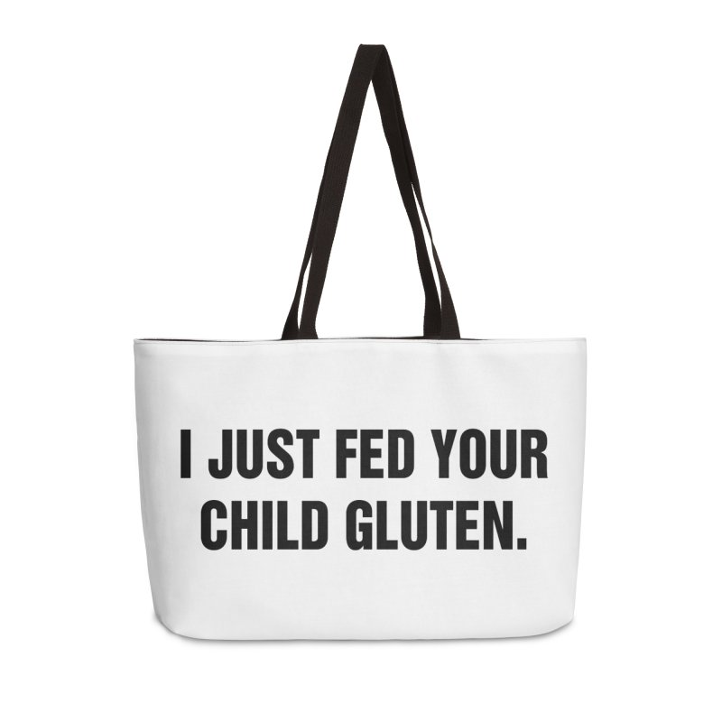 "SIDE EYE/""Gluten"" (Black) Accessories Weekender Bag Bag by Josh Sabarra's Shop"