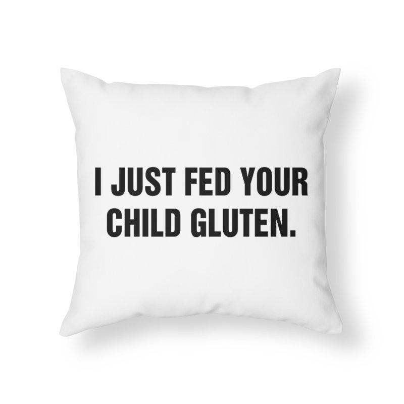 "SIDE EYE/""Gluten"" (Black) Home Throw Pillow by Josh Sabarra's Shop"
