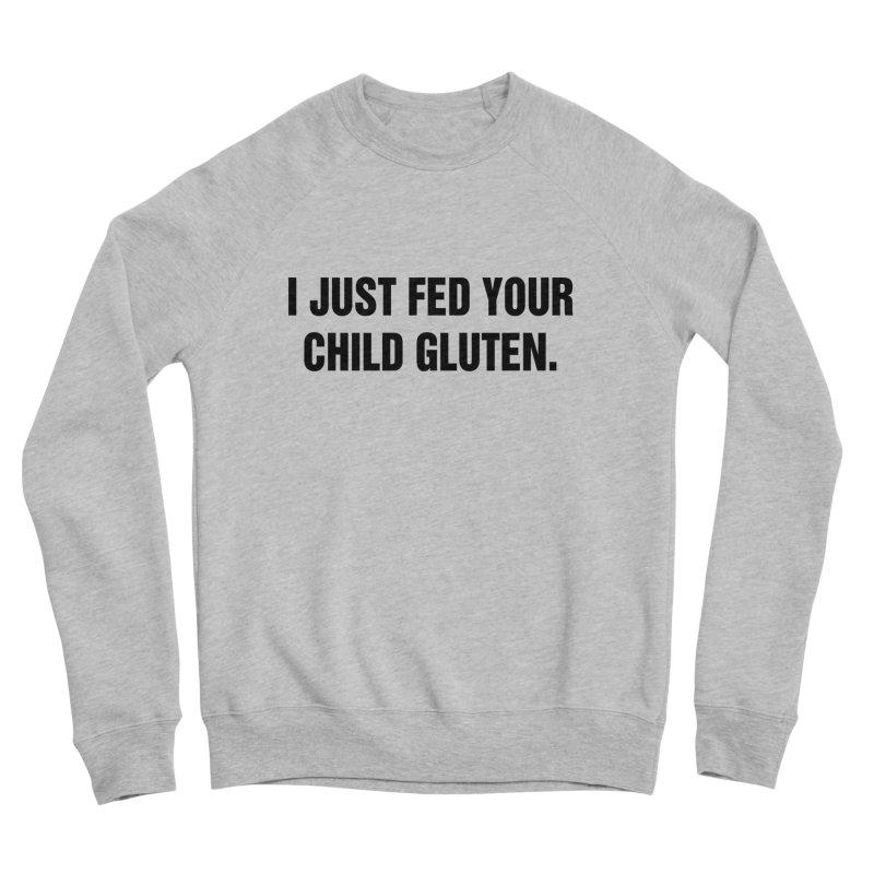 """SIDE EYE/""""Gluten"""" (Black) Men's Sponge Fleece Sweatshirt by Josh Sabarra's Shop"""