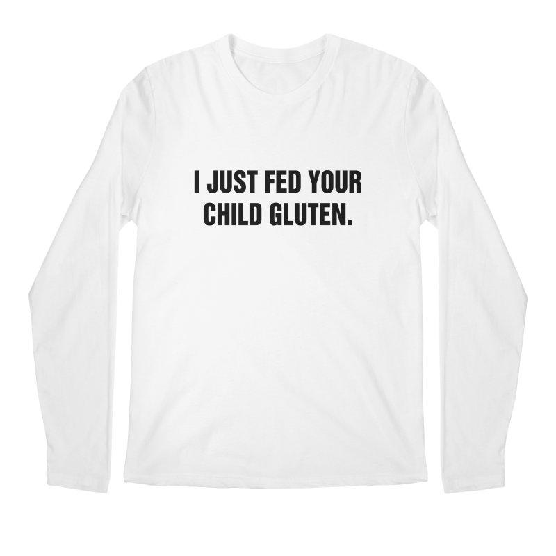 "SIDE EYE/""Gluten"" (Black) Men's Regular Longsleeve T-Shirt by Josh Sabarra's Shop"