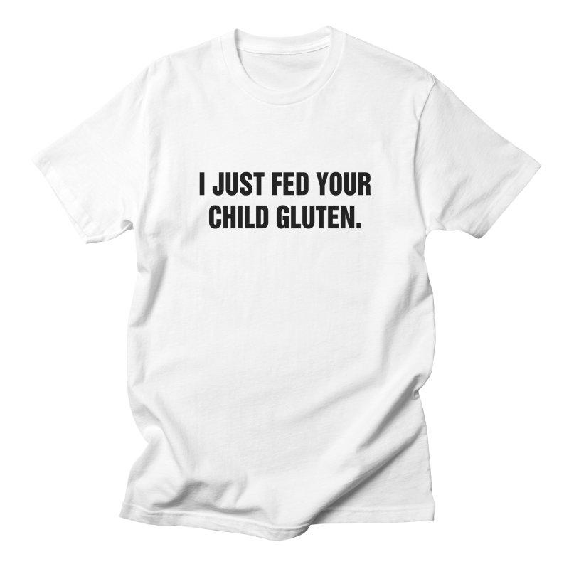 "SIDE EYE/""Gluten"" (Black) Women's Regular Unisex T-Shirt by Josh Sabarra's Shop"