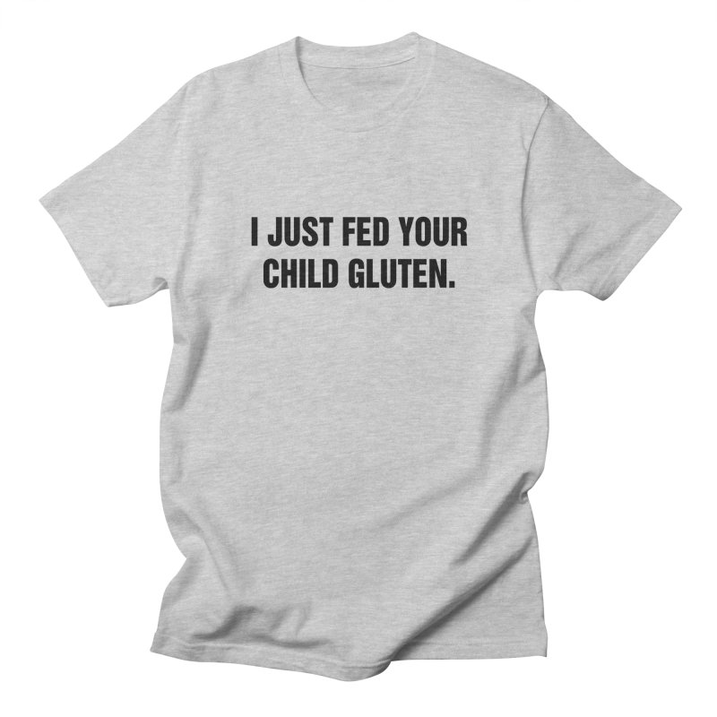 "SIDE EYE/""Gluten"" (Black) Men's Regular T-Shirt by Josh Sabarra's Shop"