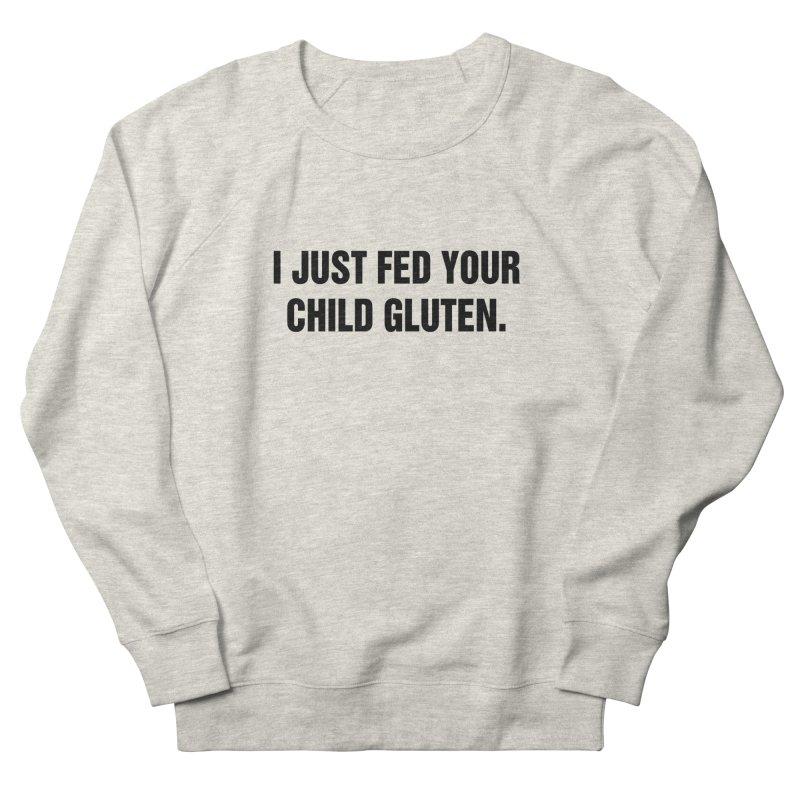 """SIDE EYE/""""Gluten"""" (Black) Women's Sweatshirt by Josh Sabarra's Shop"""