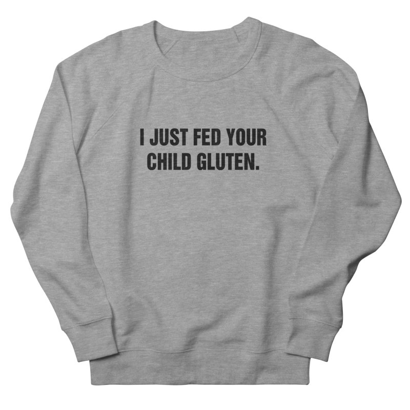 "SIDE EYE/""Gluten"" (Black) Men's French Terry Sweatshirt by Josh Sabarra's Shop"
